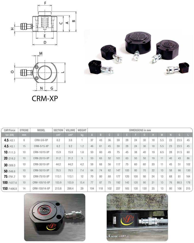 Kích thủy lực đĩa lùn 5 tấn CRM-5/15-XP